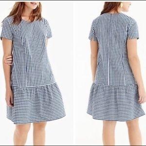 Universal Standard for J. Crew Blue Plaid Dress